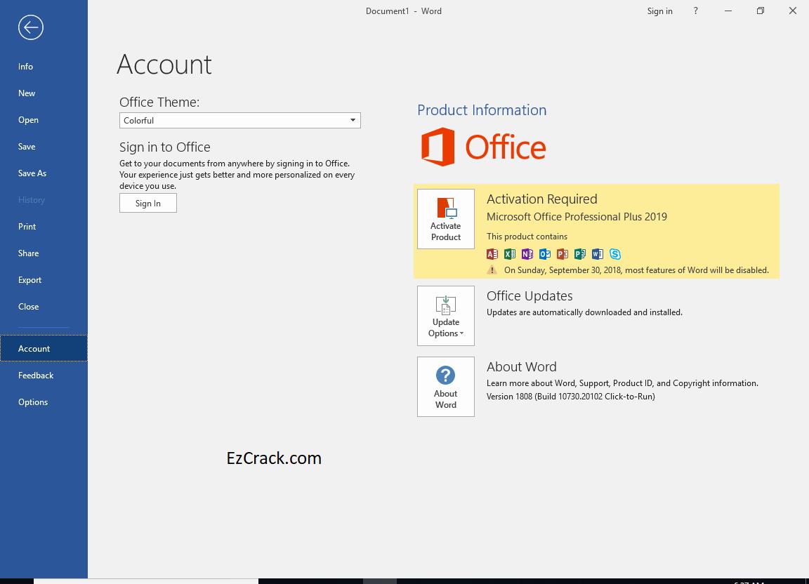 Microsoft Office Professional 2019 Product Key Full Free