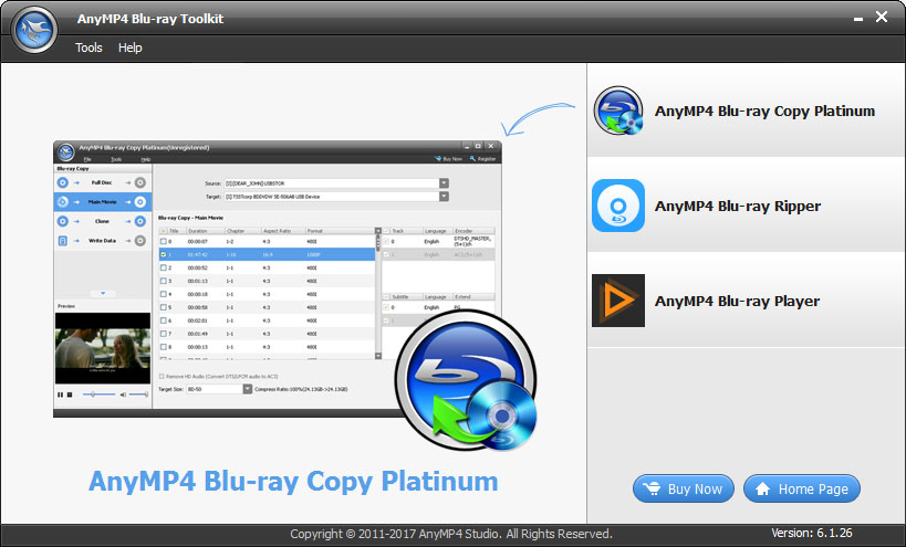 AnyMP4 Blu-ray Ripper 8.0.37 + Activation Code