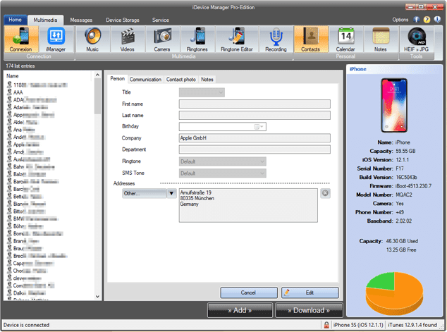 iDevice Manager Pro Edition 10.8.0.0 Crack & Serial key Free Download